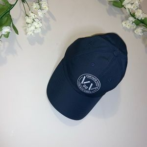 Navy blue and white vineyards vines hat